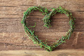 Green heart — Stock Photo