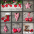 Collage of christmas photos — Stock Photo