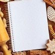 Notebook for recipes - Foto Stock