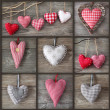 Stock Photo: Collage of photos with hearts
