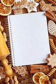 Notebook for recipes — Stock Photo