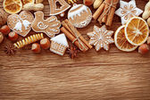 Gingerbread cookies and spices — Foto Stock