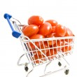 Fresh vegetables in shopping trolley — Stock Photo