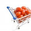 Fresh vegetables in shopping trolley — Stock Photo #7125181