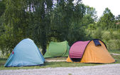 Colorful tents — Stock Photo