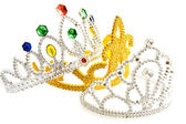 Three fancy crowns — Stock Photo