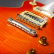 Close-up of red electric guitar — Stock Photo