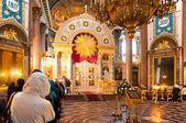 Kazan Cathedral in St. Petersburg iconostasis — Stock Photo