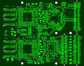The printed circuit board — Stock Photo