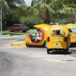 Stock Photo: Yellow coco taxis in Varadero