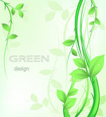 Green abstract design — Stock Vector