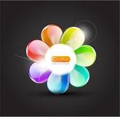 与玻璃花瓣抽象花 — 图库照片