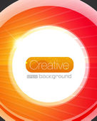 Bright glass circle vector background — Stock Vector