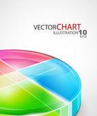 Vector diagram background — Stock Photo