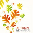 Fall abstract background -  