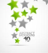 抽象的な背景をベクトルします。色の星 — ストックベクタ