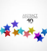 Vector abstract background. Color stars — Stock Vector