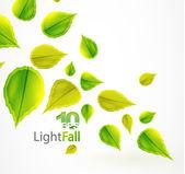 падение абстрактный фон летающих листья — Cтоковый вектор