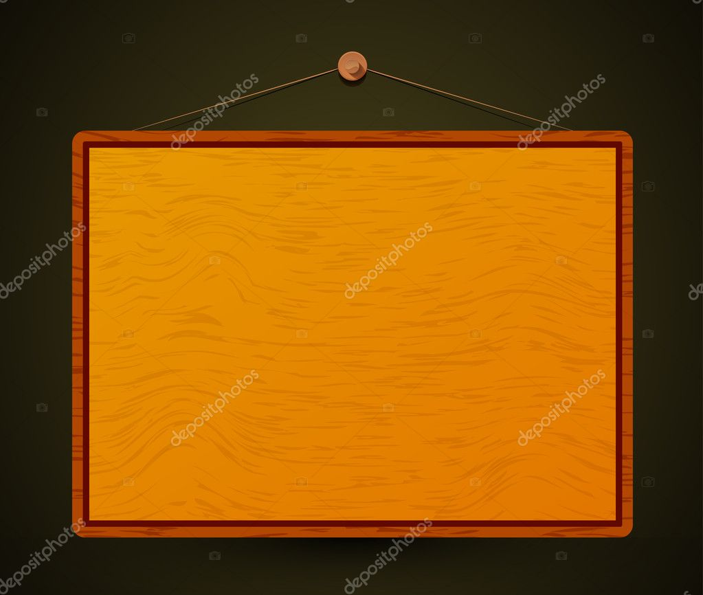 Wooden screen for your text — Stock Vector #7147696
