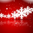 Red Christmas background — Imagens vectoriais em stock