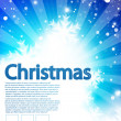 Vector blue Christmas background - Stock Vector