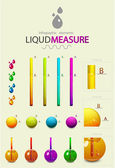 Infographic design elements. Liquid measure — Stock Vector