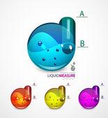 Liquid measure elements — Stock Vector
