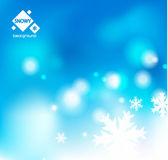 Winter snow blue christmas background — Stock Vector
