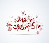 Handgezeichnete weihnachten hintergrund — Stockvektor