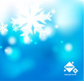 Vector blue winter abstract backround — Stock Vector
