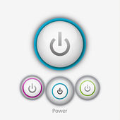 Vector power button — Stock Vector