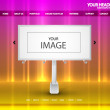 Billboard web page — Stock Vector