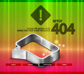 404 error vector web page — Stock Vector