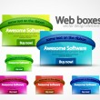 Web boxes - Stock Vector