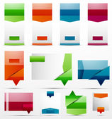Web boxes — Stock Vector