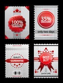 Set of vintage labels — Vector de stock