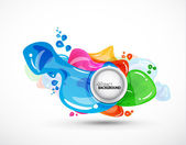 Vector abstract bubbles background — Stock Vector