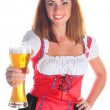 Royalty-Free Stock Photo: The girl in a traditional Bavarian dress