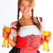 The girl in a traditional Bavarian dress — Stock Photo #6869861
