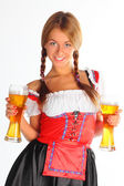 The girl in a traditional Bavarian dress — Stock Photo
