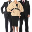 Command of businessmen — Stock Photo