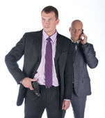 The bodyguard of the businessman — Stock Photo