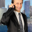 Businessman is speaking on the mobile phone — Stock Photo