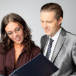 Businessman and businesswoman — Stock Photo