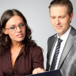 Businessman and businesswoman — Stock Photo #7283341