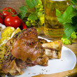Pork knuckle and beer — Stock Photo