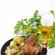 Pork knuckle and beer — Stock Photo #6784438