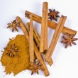 Stock Photo: Cinnamon and aniseed