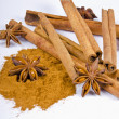 Cinnamon and aniseed — Stock Photo