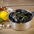Mussels with ingredients — Stock Photo #6844820